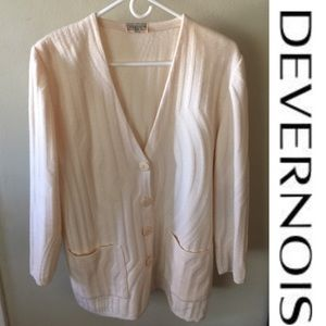8a2e6520b1 Devenois Sweaters - Devenois French designer cardiganSoft pink Nwot1 X
